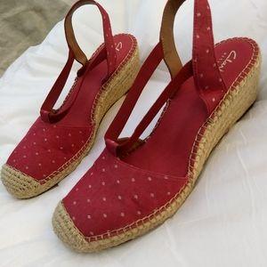 Clark's artisan espadrille wedge sandal